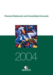 Financial Statements and Consolidated Accounts