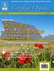 Growing a More Sustainable Food Trade - CCOF
