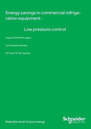 Low pressure control - Schneider Electric