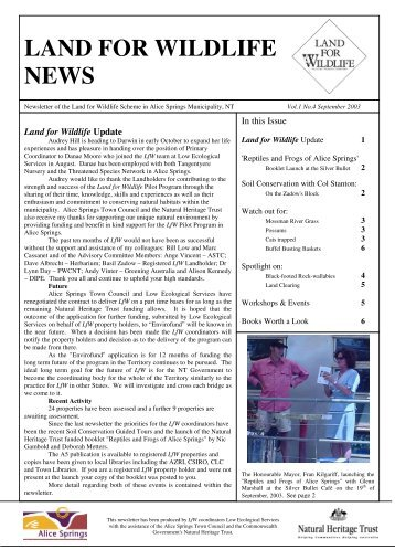 LfW Sep 2003 (PDF 1 MB) - Land for Wildlife - Low Ecological ...