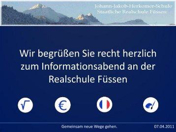Bitte hier klicken... - Internetauftritt der Realschule Füssen