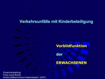 Die Vorbildfunktion der Erwachsenen - Kinderunfallkommission ...
