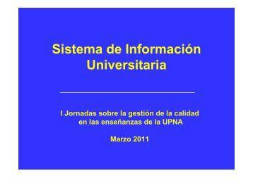 Sistema de Información Universitaria y herramientas de gestión de ...