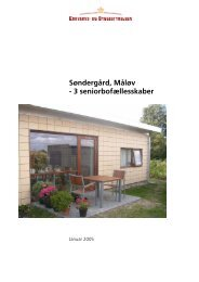 Søndergård, Måløv - 3 seniorbofællesskaber - Erhvervsstyrelsen