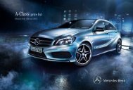 A-Class price list - Mercedes-Benz UK