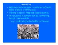 Conformity • Adjusting one's behavior or attitudes to fit with those of ...