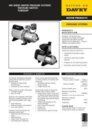 HM SERIES WATER PRESSURE SYSTEMS ... - Dural Irrigation