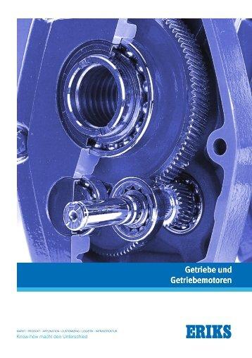 Broschüre Getriebe und Getriebemotoren - ERIKS
