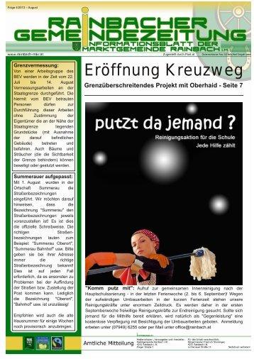 Zeitung 4/2013 - Marktgemeinde Rainbach im Mühlkreis