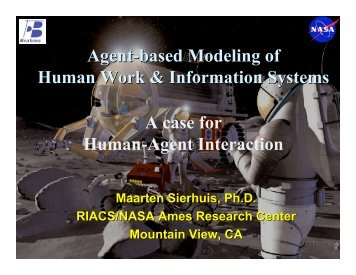Agent-Based Modelling of Human Work & Information ... - TU Delft
