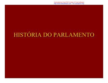 história do parlamento - Assembleia Legislativa do Estado de São ...