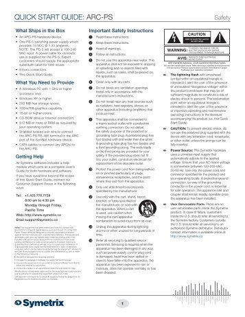RED ONE™ QUICK START GUIDE - PS Production Services Ltd.