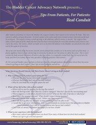 Ileal Conduit - Bladder Cancer Advocacy Network