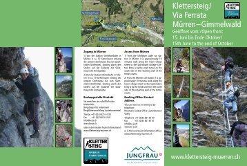 Klettersteig Mürren : Klettersteig magazine