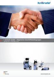 I. Kränzle GmbH - Allgemeine Geschäftsbedingungen