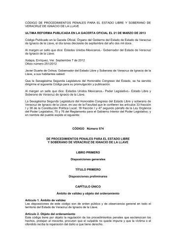 codigo de procedimientos penales 21-03-13 - H. Congreso del ...