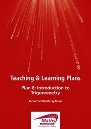 Teaching & Learning Plan 8: Introduction to ... - Project Maths
