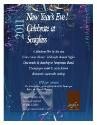 New Year's Eve! Celebrate at Seaglass A fabulous fête by the sea ...