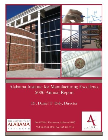 2006 Annual Report - AIME - The University of Alabama