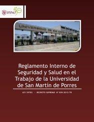 Reglamento Interno de Seguridad y Salud en el Trabajo de la ...
