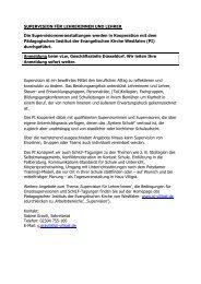 SUPERVISION FÜR LEHRERINNEN UND LEHRER ... - vLw NRW eV