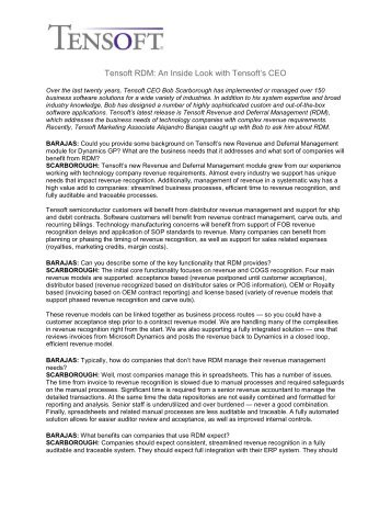 Tensoft RDM: An Inside Look with Tensoft's CEO