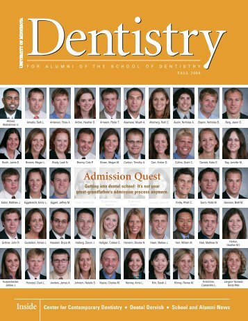 Admission Quest - School of Dentistry - University of Minnesota