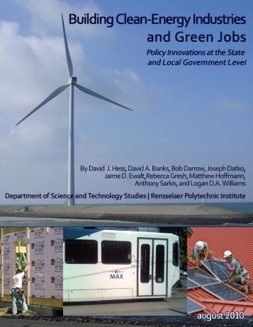 Building Clean-Energy Industries and Green Jobs - David J. Hess