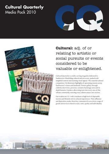 CQ Media Pack - Cultural Quarterly Online