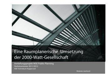 Eine Raumplanerische Umsetzung der 2000-Watt ... - vlp-aspan