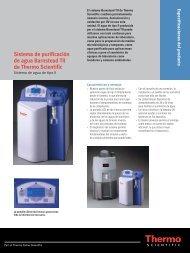Sistema de purificación de agua Barnstead TII de Thermo Scientific