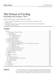 The Science of Cycling - IngentaConnect