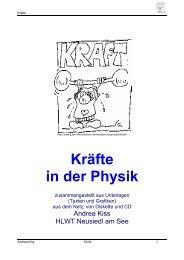 Kräfte in der Physik - PhysicsNet