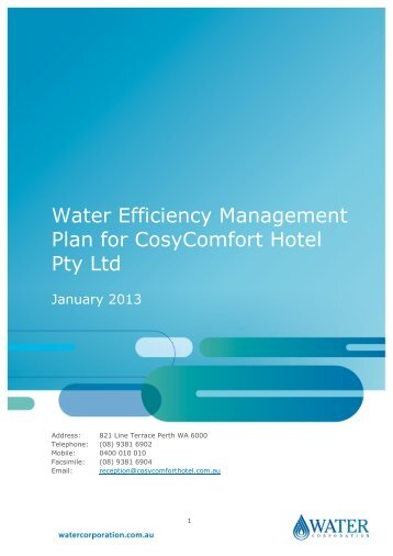 WEMP completed example - Water Corporation