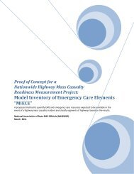 """Model Inventory of Emergency Care Elements """"MIECE"""" - NHTSA EMS"""