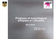 Progress of toxicological analyses in Lithuania