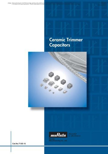 Ceramic Trimmer Capacitors - Murata