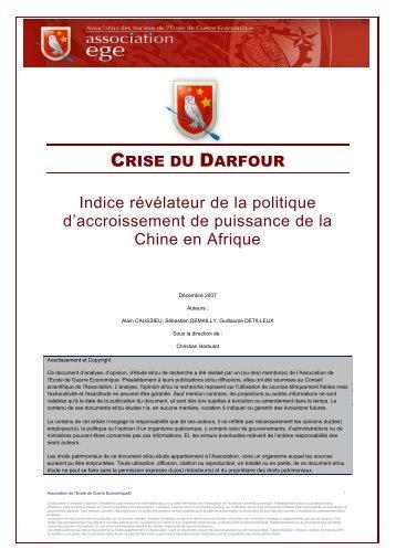 Crise du Darfour - Base de connaissance AEGE