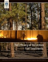 The Efficacy of Hazardous Fuel Treatments: - ERI Library - Northern ...