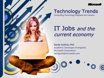 IT Career Outlook Presentation - MIS Laboratory