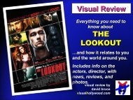 THE LOOKOUT Visual Review - Visual Hollywood
