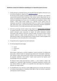 Dodatkowe zasady dla kandydatów wyjeżdżających na stypendia ...