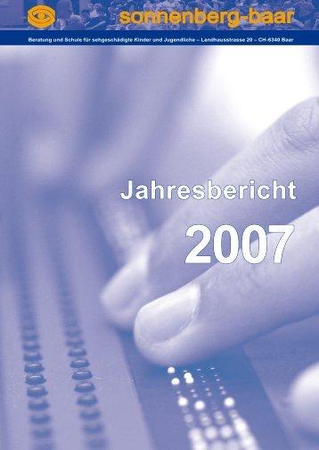 Jahresbericht 2007 - SONNENBERG