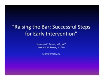 Raising the Bar - Ucpconference.org