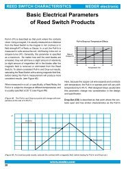 Basic Electrical Parameters of Reed Switch Products - SOS electronic