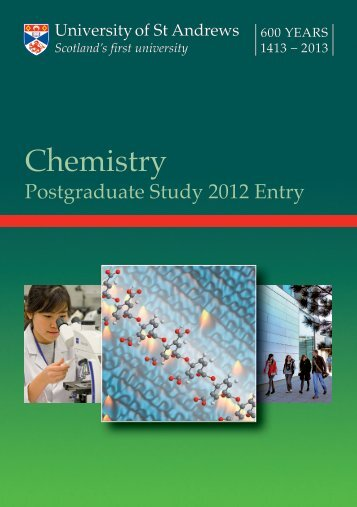 Chemistry-2012 - Study in the UK