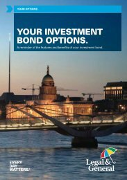 YOUR INVESTMENT BOND OPTIONS. - Legal & General