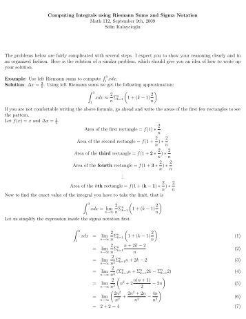 Worksheets Sigma Notation Worksheet summation notation worksheet with answers intrepidpath 6 intrepidpath
