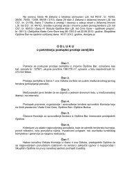 Odluku o pokretanju postupka prodaje zemljišta - Bar