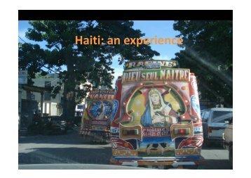 Haiti: an experience